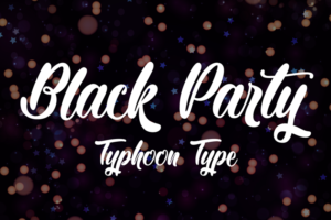 summer font black party