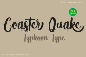 summer fonts coaster_quake