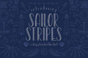 summer fonts sailor stripes